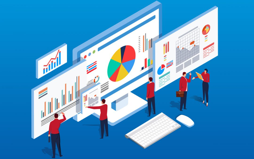 iStock people standing business intelligence report medium 1080x675 - Business Intelligence: como aplicar em construtoras?