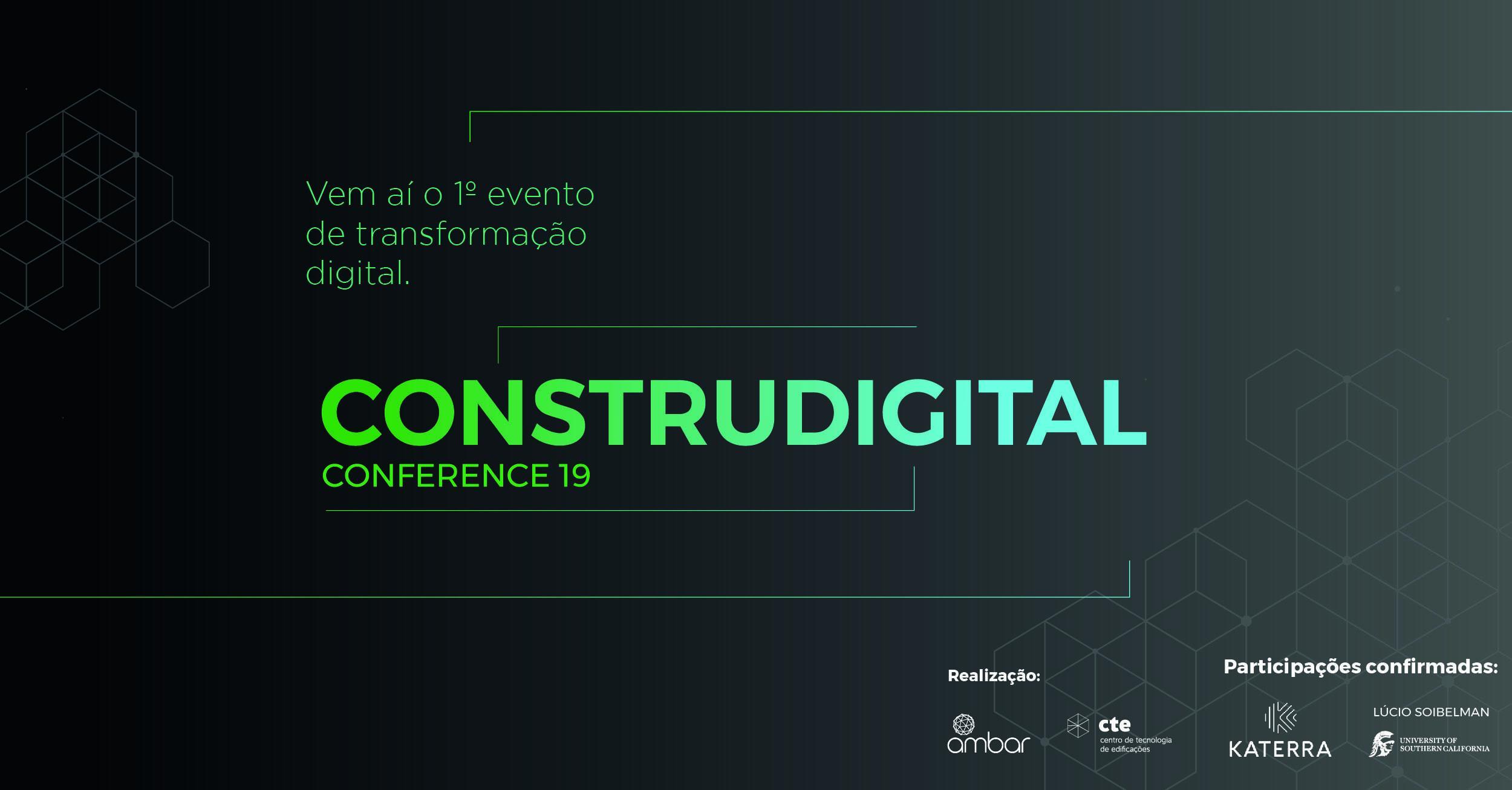 Prepare-se! Vem aí o primeiro evento sobre transformação digital na Construção